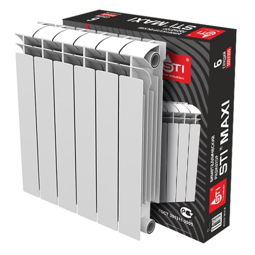 000 293 500x500 - Биметаллический радиатор STI MAXI 500 100