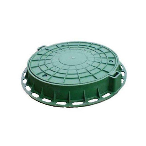273200002 lyuk polimernyj lm zelenyj 1 600x600 - Люк полимерный малый, 15 кН - зелёный