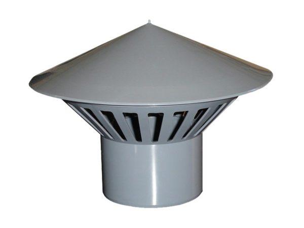 zont50mm 800 600 600x450 - Зонт вентиляционный ПП серый